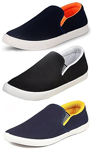 Ethics Men's Perfect Combo Pack of 3 Stylish Casual Loafer Shoes (8)