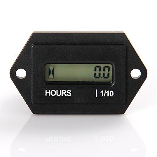 Runleader RL-HM008 AC 86-230V Stundenzähler mit digitaler LCD-Anzeige für Boot Traktor Generator Motormäher Gabellicht CAT Paramotoren Ultraleichtschiffsmotoren Reiniger und Kettensägen