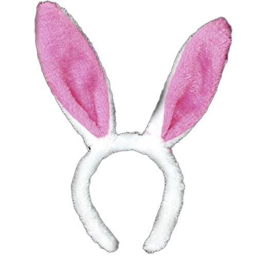 Cerchietto - orecchie - coniglio - accessori - travestimento - unisex - adulti - donna - uomo - bambini - colore rosa - carnevale - halloween - cosplay - compleanno - festa - anniversario