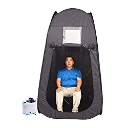 HIXGB Sauna Household Portable Sauna Room Steam Sauna Detox Fumigation Spa Weight Loss Larger Size Sauna Tent Suitable For Taller People,120 * 120 * 210Cm/47.24 * 47.24 * 82.68In,Black