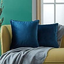 Top Finel pack 2 Hogar cojín terciopelo Decorativa Almohadas Fundas color sólido Para Sala de Estar