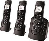 Grundig D150A Trio DECT Schnurlostelefon mit Anrufbeantworter schwarz