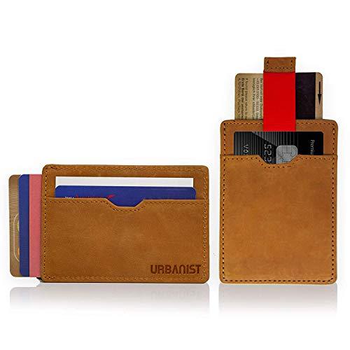 URBANISTTM Kartenetui | Die Mini-Geldbörse mit RFID Schutz | Für bis zu 14 Karten | Herren-Portemonnaie - Smart, Slim & modern - Kreditkarte Beutel