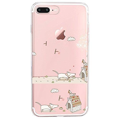 Riyeri iPhone 8/8 Plus Hülle,TPU Silikon Ultra Transparent Kristall Bumpe Schutzhülle Handyhülle, Anti-schmutzig,Staubdicht Cover für Apple iPhone 8 Plus,5.5 Zoll(2017) (iPhone 8 Plus, 9)