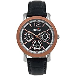 Elesse Unisex Quartz Watch 556MF03-04 with Leather Strap