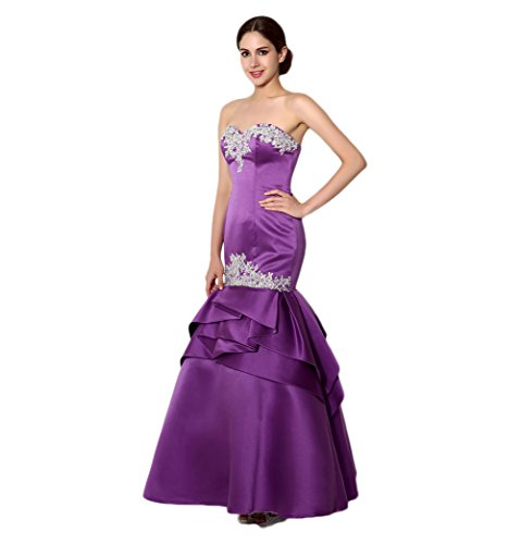 Ikerenwedding - Robe - Taille empire - Femme Small Violet