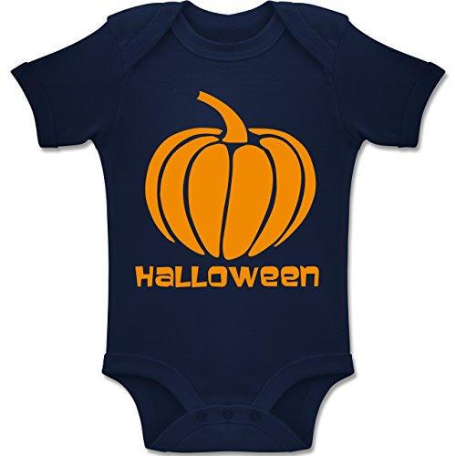 Shirtracer Anlässe Baby - Kürbis - 3-6 Monate - Navy Blau - BZ10 - Baby Body Kurzarm Jungen Mädchen (Halloween-kostüm-ideen Für 6 Monat Alt)