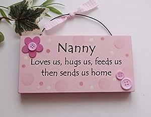 Nanny Humorous Wooden Keepsake wooden plaque