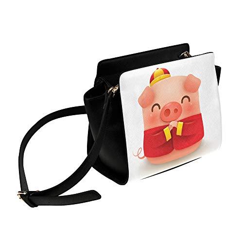 Kostüm Vektor - Rtosd Chinese New Year Pig Lustige Umhängetasche Umhängetaschen Reisetaschen Seesack Umhängetaschen Gepäck Organizer Für Lady Girls Womens Work Shopping Outdoor