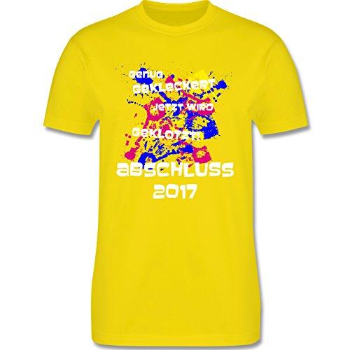 Abi & Abschluss - Jetzt wird geklotzt - Abschluss 2017 - Herren Premium T-Shirt Lemon Gelb