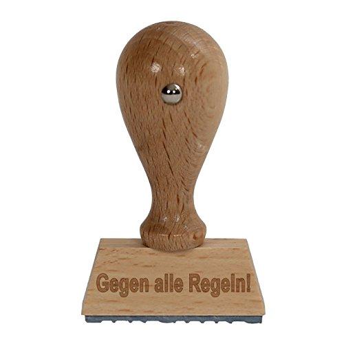 bütic divertimento timbro timbro in legno/Fun hs4010con scritta o testo desiderato V1 Gegen alle Regeln!
