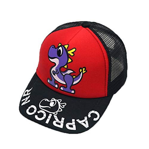 Kinder Dinosaurier Brief Baseball Cap Visier Cap, atmungsaktiv faltbar einstellbar Sommer UV-Schutz Strand Hut-Student Street Dance Show Cap -