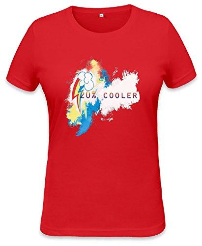 20% Cooler Rainbow Dash Womens T-shirt XX-Large (20 Cooler Rainbow Dash)
