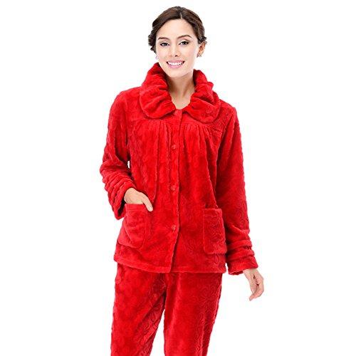 autunno/inverno moda/Goffratura processo kit di servizio a domicilio/ cappotto pantaloni pigiama/Pigiama caldo/ l'abito B