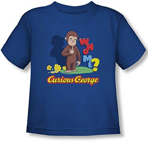 Curious George - Kleinkind, das ich T-Shirt, 4T, Royal - Curious George Kleinkind T-shirt