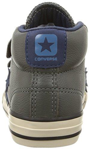 Converse Sp 3v Lea Mid, Baskets Basses Mixte Enfant Gris (Gris/Bleu)