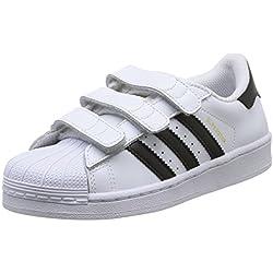 Adidas - Superstar Foundation CF, Zapatillas Unisex Niños, Blanco (Footwear White/Core Black/Footwear White 0), 29 EU