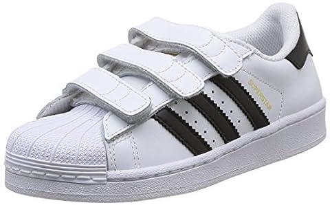 Adidas B26070, Chaussures de basketball Garçon, Blanc (Ftwr White / Core Black / Ftwr White), Kids 12