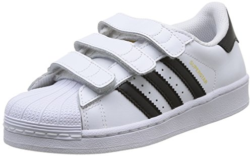 adidas - Superstar Foundation, Sneakers a collo basso infantile, Multicolore (Ftwwht/Cblack/Ftwwht), 31