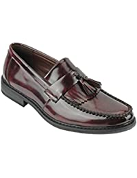 309e4b15309 Xposed Mens Vintage Polished Patent Leather Tassel Loafers Retro MOD Shoes  - Narrow Width Fit