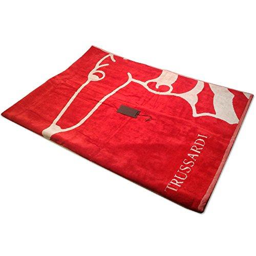 telo-mare-trussardi-100x180-shapes-rosso-spugna-di-puro-cotone