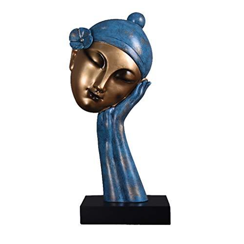 TIAN Dekoration- Keramik Handwerk, Gesicht Abstrakte Ornamente, Einfaches Wohnzimmer, Weinschrank, Porch Dekorationen (Farbe : B)