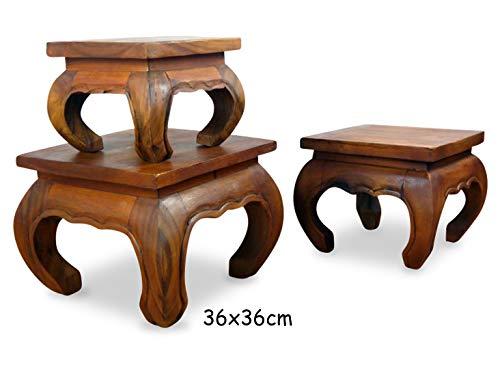 livasia Asiatischer Opiumtisch, Beistelltisch aus Massivholz der Marke Asia Wohnstudio, asiatischer Couchtisch, Nachttisch, Massivholz Möbel, (36cm)