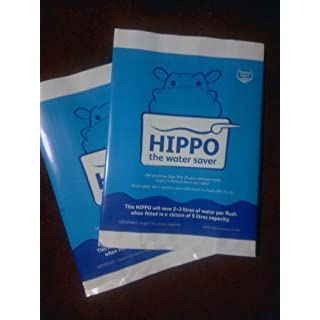 2x hippo water saver - save money on water bills every toilet cistern flush