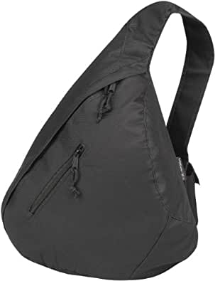 CENTRIX 'TRIANGLE' CITY BAG MONOSTRAP RUCKSACK - 7 GREAT COLOURS (BLACK)