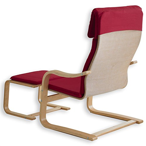 Relax – Sessel LINA rot mit Fußteil - 2