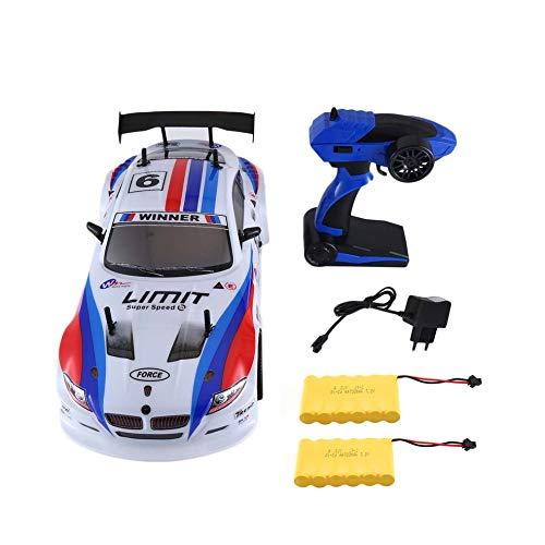 CHOULI J601-1 1/10 1400mAh 2.4G 25KM/h Racing Car RC Model Car Toys 2 Batteries EU EU White (Rc Motoren 5 1 Scale)