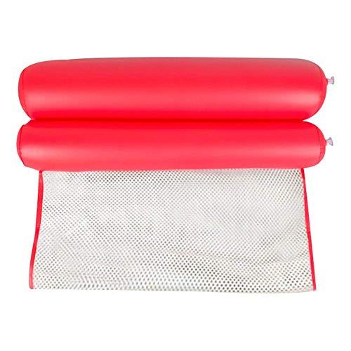 atte Pool Liege Schwimmer Hängematte Aufblasbar Flöße Schwimmbad Luft Leicht Schwimmende Stuhl Kompakt und Tragbar Schwimmbad Matte für Erwachsene und Kinder - Rot, Nylon ()