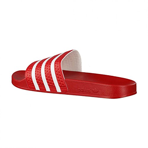 adidas Originals ADILETTE 280647, Sandales mixte adulte Rot (Light Scarlet/White/Light Scarlet)