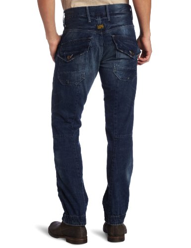G-Star 3D - Jean - Carrot - Enduit - Homme Bleu (Medium Aged 4271)