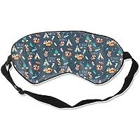 Preisvergleich für Natural Silk Eyes Mask Sleep Be Brave Dream Big Fox Blindfold Eyeshade with Adjustable for Travel,Nap,Meditation...