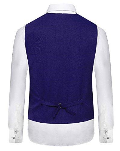 Hanayome - Gilet - Blouson - Col Chemise Classique - Sans Manche - 100 DEN - Homme Purple-A