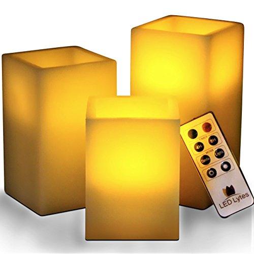 LED Lytes Flickerkerzen Elfenbein Wachs und gelbe Flamme