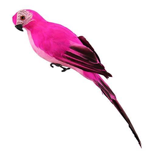 Koojawind Bunte GefäLschte Papageien KüNstliche VöGel Modell Outdoor Home Garden Rasen Baum Dekor, Tropische Aras Wand Skulptur Simulation Papagei FüR Weihnachtsdekor -