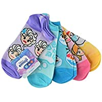 Disney 41X70019H60 Frozen Girls 5Pk No Shows Sz. 6-8.5 (Emoji Type), Multicolor