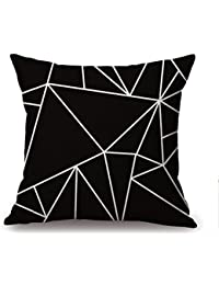 45x 45cm cuscino decorativo caso triangolo Geo nera Copri Cuscino Cotone Lino Federa Cuscino