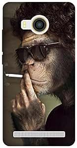 The Racoon Grip Smoking Monkey hard plastic printed back case for Vivo X Shot