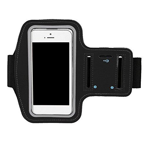 Sport Armband Handy, Sondereu Armbinde Handy Universal Jogging Und Fitnessstudio Ridding Wasserfestes mit SchlÜSselhalter, Kabelfach, Kartenhalter für Iphone Galaxy (Schwarz)