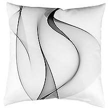 Home Fashion 66665 103 Grey 50 x 50 cm Digital Print Velvet Grey 1 x Cushion Cover 50 x 50 cm