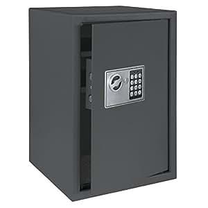 Möbeltresor Safe mit elektronischem Zahlenschloss Kleintresor Elektronikschloss Dokumententresor Wandtresor Geldsafe Zimmersafe, Farbe:dark grey