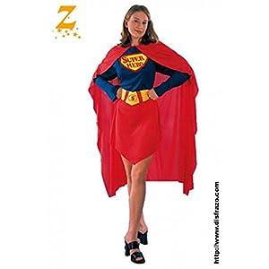 Fyasa 830447-t04Super Hero disfraz de niña, tamaño grande