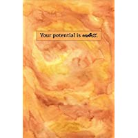 Your Potential Is Endless: Sketchbook for Artist ~ Funky Novelty Gift for Art Lovers, Small Blank Sketch Book