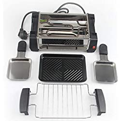 XRPXRP Plancha de Asar Eléctrica, Antiadherente,Fácil Limpieza, 1300 W, Parrilla electrica portatil, Horno eléctrico antiadherenteXRPXRP