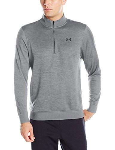 Under Armour Herren Storm Sweater Fleece 1°4 Zip, Herren, Men's Storm SweaterFleece ¼ Zip, True Gray Heather (025)/Stealth Gray, XX-Large (Quarter-zip Fleece)