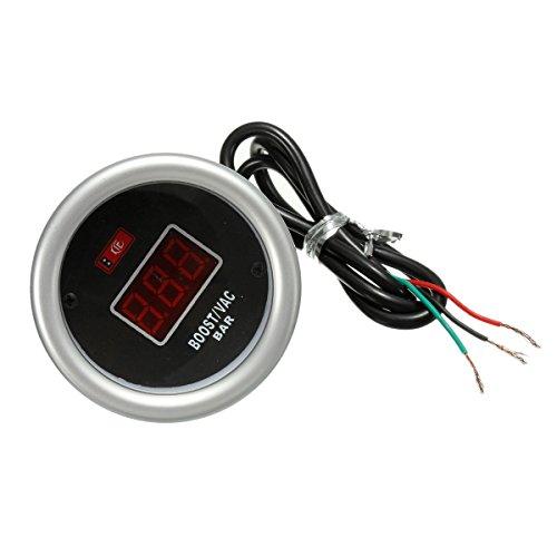 HANO 52mm Red Digital-Boost-Vac-Lehre Stab-Anzeigen mit PVC-Schlauch Kit -