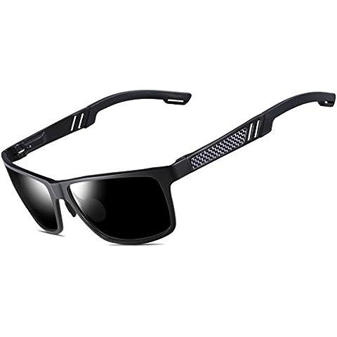 ATTCL® 2016 Hot Wayfarer Metal Frame Driving Polarized Sunglasses Mens Womens 16560blackgray
